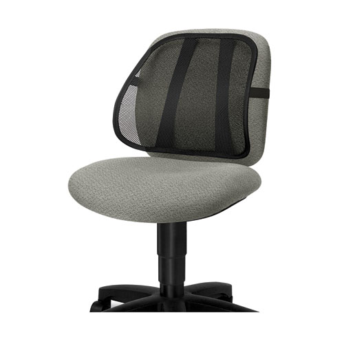 Office Suites Mesh Back Support, 17.75w x 5d x 15h, Black