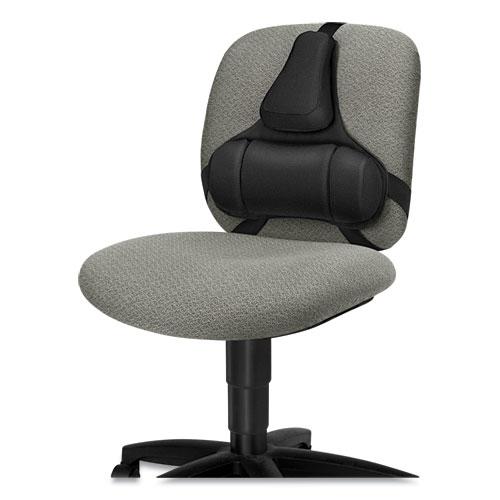 Professional Series Back Support, Memory Foam Cushion, 15w x 2d x 14.5h, Black
