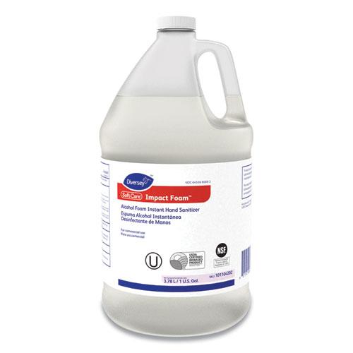 Diversey™ Soft Care Impact Foam Alcohol Instant Foam Hand Sanitizer, 1 gal Bottle, Alcohol, 4/Carton
