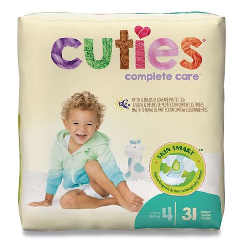 Premium Jumbo Diapers, Size 4, 22 lbs to 37 lbs, 124/Carton