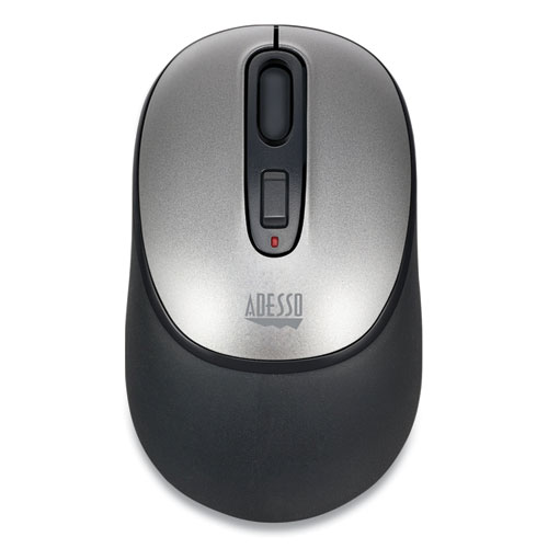 iMouse A10 Antimicrobial Wireless Mouse, 2.4 GHz Frequency/30 ft Wireless Range, Left/Right Hand Use, Black/Silver