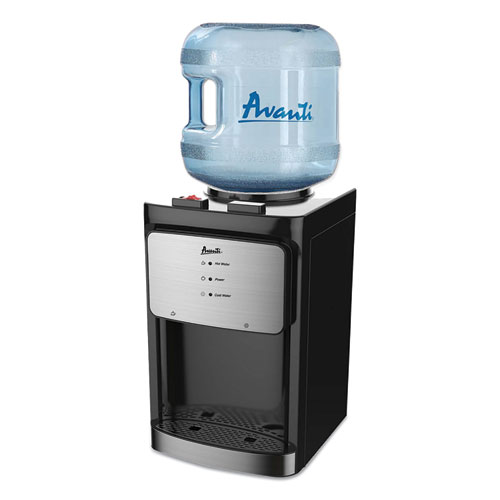 Counter Top Thermoelectric Hot and Cold Water Dispenser, 3 to 5 gal, 12 x 13 x 20, Black