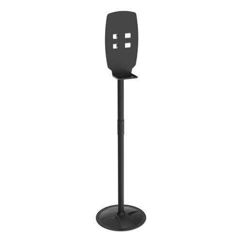 """Floor Stand for Sanitizer Dispensers, Height Adjustable from 50"""" to 60"""", Black"""