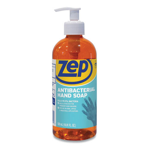 Zep® Antibacterial Hand Soap, Floral, 16.9 oz Bottle, 12/Carton