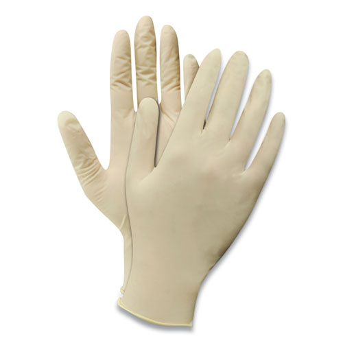 Powdered Disposable Latex Gloves, Natural White, X-Large, 100/Box