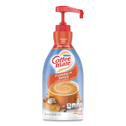 Liquid Creamer Pump Bottle, Pumpkin Spice, 1.5L Pump Bottle