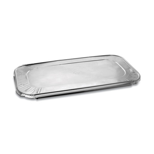Aluminum Steam-Pan Lids, 1/3 Size, 12.31 x 6.19, 200/Carton
