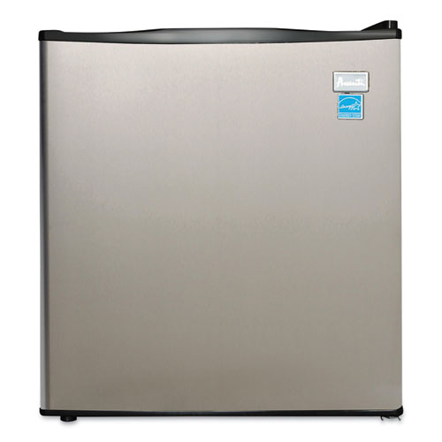1.7 Cu. Ft. All Refrigerator, Stainless Steel/Black