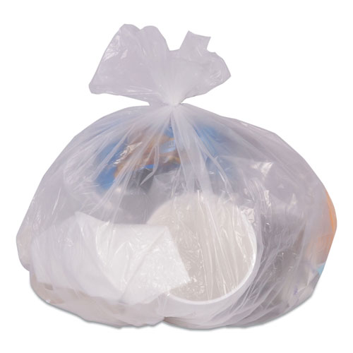"""Coastwide Professional™ High-Density Can Liners, 30 gal, 0.31 mil, 30"""" x 37"""", Clear, 25 Bags/Roll, 20 Rolls/Carton"""
