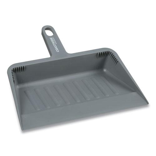 Heavy Duty Dustpan, Plastic, 11.9 Wide, Gray