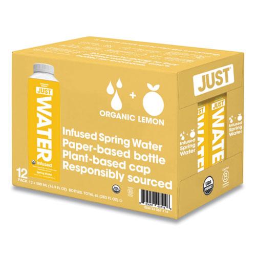 Infused Spring Water, Lemon, 16.9 oz Bottle, 12/Carton