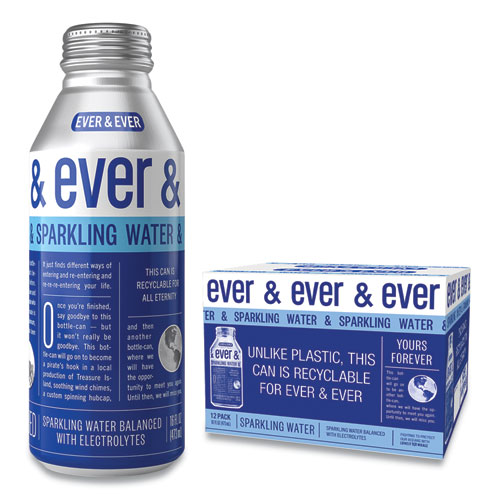 Reverse Osmosis Sparkling Water, 16 oz Bottle, 12/Carton