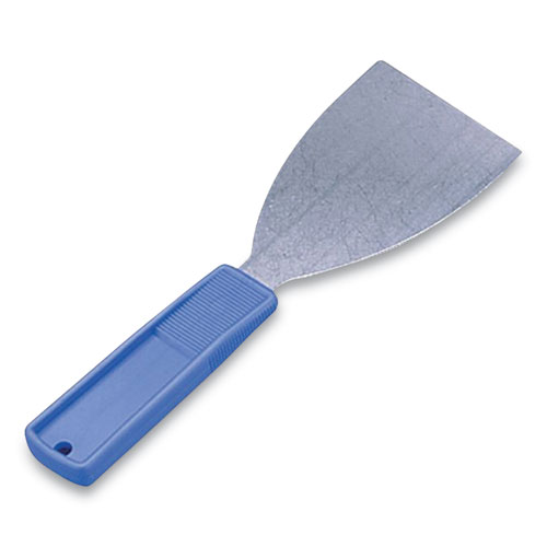 Putty Knife, 3W Blade, Stainless Steel/Polypropylene, Blue