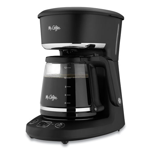 12-Cup Programmable Automatic Coffee Maker, Black/Chrome