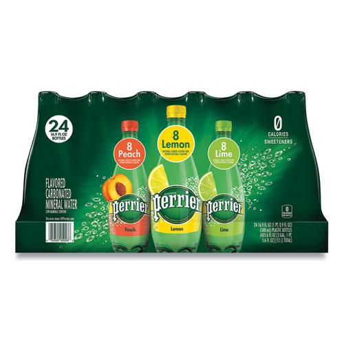 Sparkling Natural Mineral Water, Assorted, 8 Peach, 8 Lemon, 8 Lime, 16.9 oz Bottle, 24/Pack