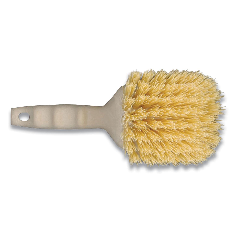 Plastic Utility Brush, 8.5, Tan/Cream