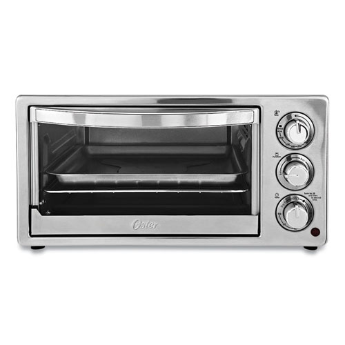 Convection Toaster Oven, 6-Slice, 16.8 x 13.1 x 9, Stainless Steel/Black