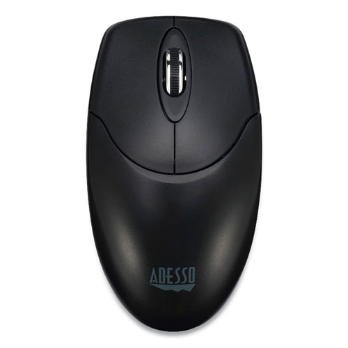 iMouse M60 Antimicrobial Wireless Mouse, 2.4 GHz Frequency/30 ft Wireless Range, Left/Right Hand Use, Black
