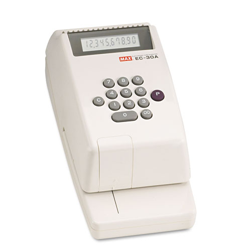 Electronic Checkwriter, 10-Digit, 4-3/8 x 9-1/8 x 3-3/4 | by Plexsupply