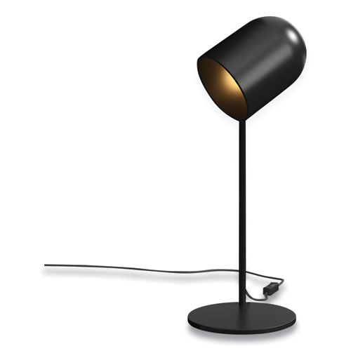 "Essentials LED Plated Table Lamp, Adjustable Neck, 17.7"" h, Black"