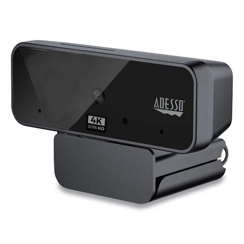 CyberTrack H6 4K USB Fixed Focus Webcam with Microphone, 3840 Pixels x 2160 Pixels, 8 Mpixels, Black