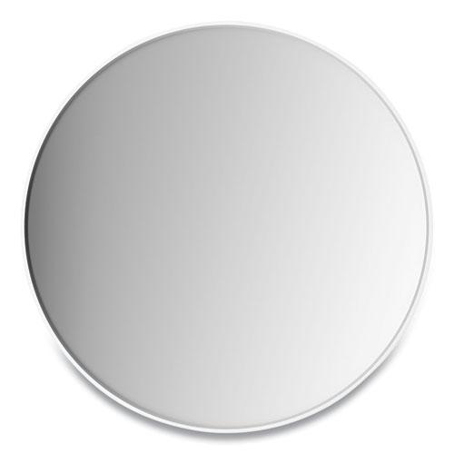 Aluminum Frame Wall Mirror, Round, White Frame, 31.5 dia