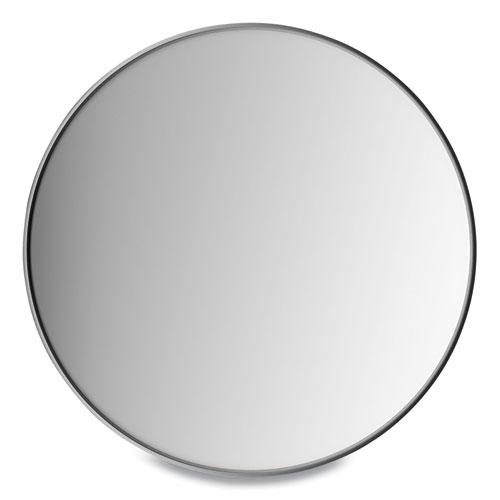 Aluminum Frame Wall Mirror, Round, Black Frame, 31.5 dia