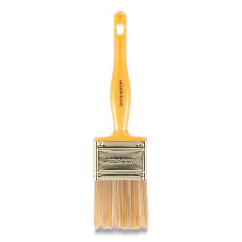 Softip Paint Brush, 2 Flat, Plastic Kaiser Handle