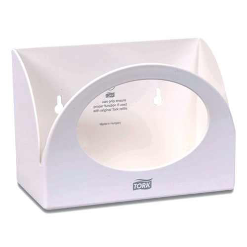 Tork® Small Bracket Wiper Dispenser, 8.42 x 4.22 x 5.74, White
