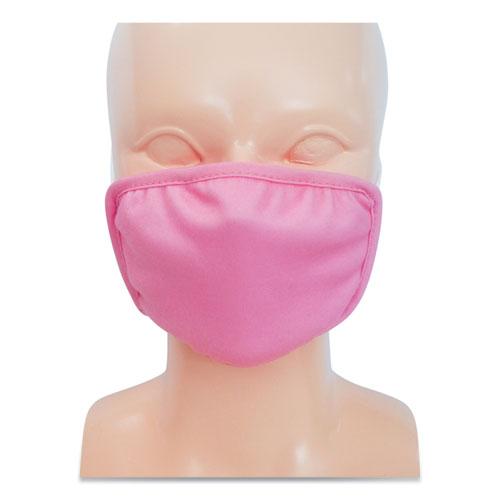 Kids Fabric Face Mask, Pink, 500/Carton