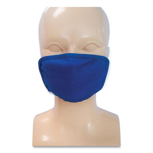 Kids Fabric Face Mask, Blue, 500/Carton