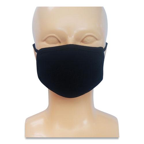 Kids Fabric Face Mask, Black, 500/Carton