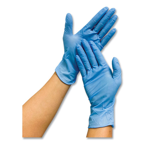 Powder-Free Nitrile Gloves, Blue, Medium, 1,000/Carton
