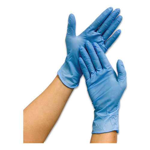 Powder-Free Nitrile Gloves, Blue, Large, 1,000/Carton