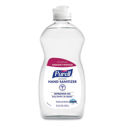 PURELL® Advanced Hand Sanitizer Gel, Clean Scent, 12.6 oz Squeeze Bottle, 12/Carton