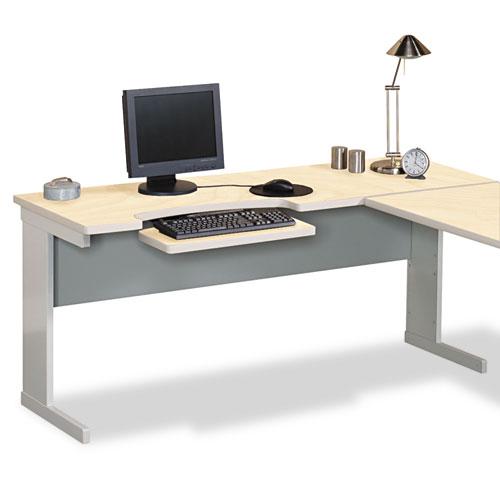 Modular Worktable Return, 48w x 24d x 29-3/4h, Maple/Gray