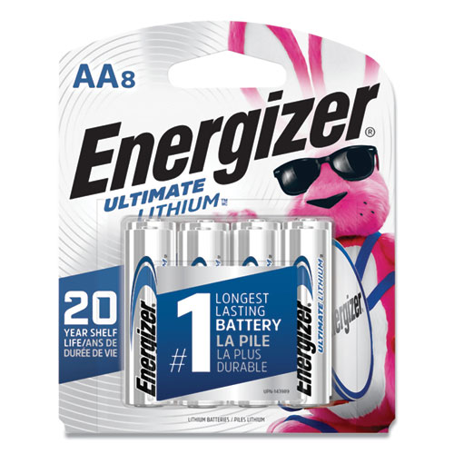 Energizer® Ultimate Lithium AA Batteries, 1.5 V, 24/Box