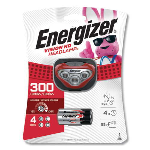 LED Headlight, 3 AAA Batteries (Included), Red