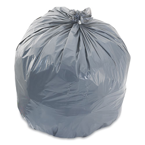 Low-Density Waste Can Liners, 33 gal, 1.1 mil, 33 x 39, Gray, 100/Carton