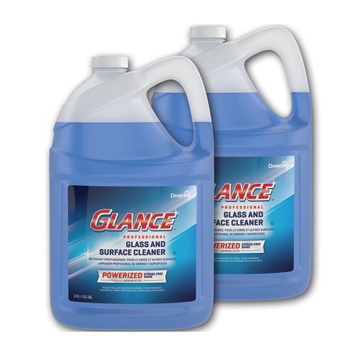 Glance Powerized Glass and Surface Cleaner, Liquid, 1 gal, 2/Carton