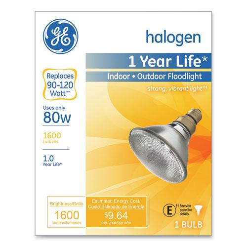 GE Energy-Efficient PAR38 Halogen Bulb, 90 W, Crisp White