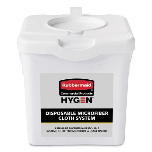 Rubbermaid® Commercial HYGEN™ Disposable Microfiber Charging Bucket, 7.92 x 7.75 x 7.44, White, 4/Carton