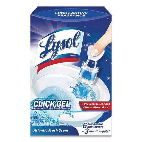 Click Gel Automatic Toilet Bowl Cleaner, Ocean Fresh, 6/Box