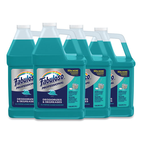 Fabuloso® All-Purpose Cleaner, Ocean Cool Scent, 1 gal Bottle, 4/Carton