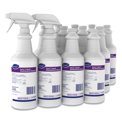 Diversey™ Envy Liquid Disinfectant Cleaner, Lavender, 32 oz Spray Bottle, 12/Carton