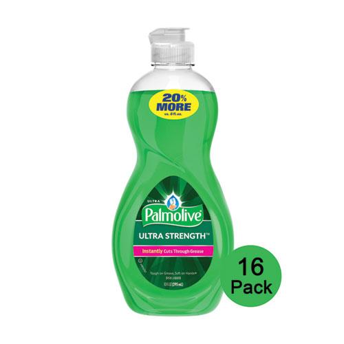 Ultra Palmolive® Dishwashing Liquid, Ultra Strength, Original Scent, 10 oz Bottle, 16/Carton