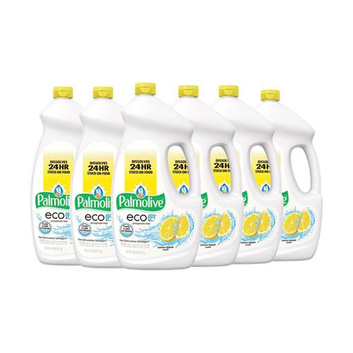 Automatic Dishwashing Gel, Lemon, 75 oz Bottle, 6/Carton