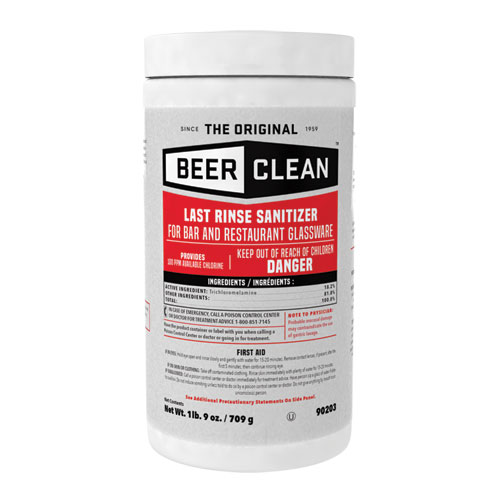 Beer Clean Last Rinse Glass Sanitizer, Powder, 25 oz Container