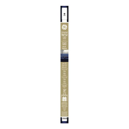 """GE 18"""" T8/T12, 15 W, T8 Tube, Bright White, 6/Carton"""