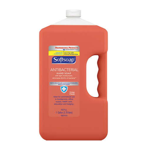 Antibacterial Liquid Hand Soap Refill, Crisp Clean, 1 gal Bottle